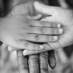 grayscale-photo-of-man-woman-and-child-736428